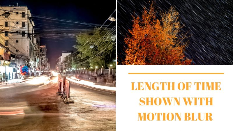LENGTH OF TIME SHOWN WITH MOTION BLUR